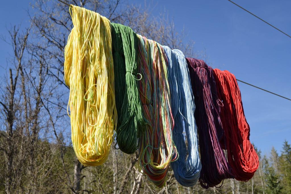 April 2016 - dyeing wool 3...