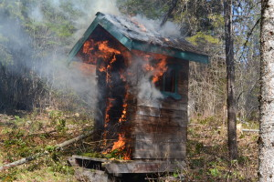 March 2016 - torching the outhouse 6