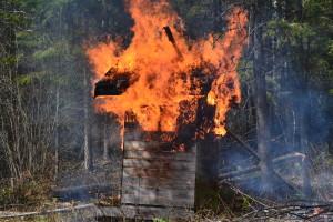 March 2016 - torching the outhouse 8
