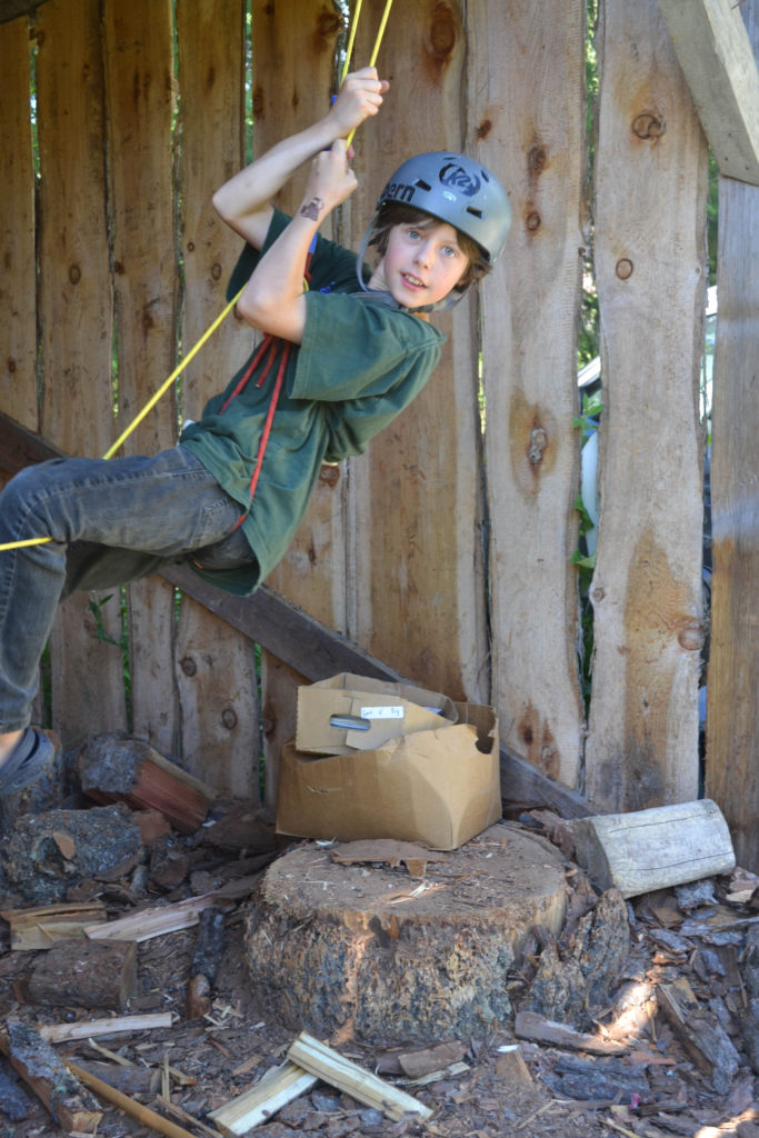 July 2016 - rock climbing in the woodshed...