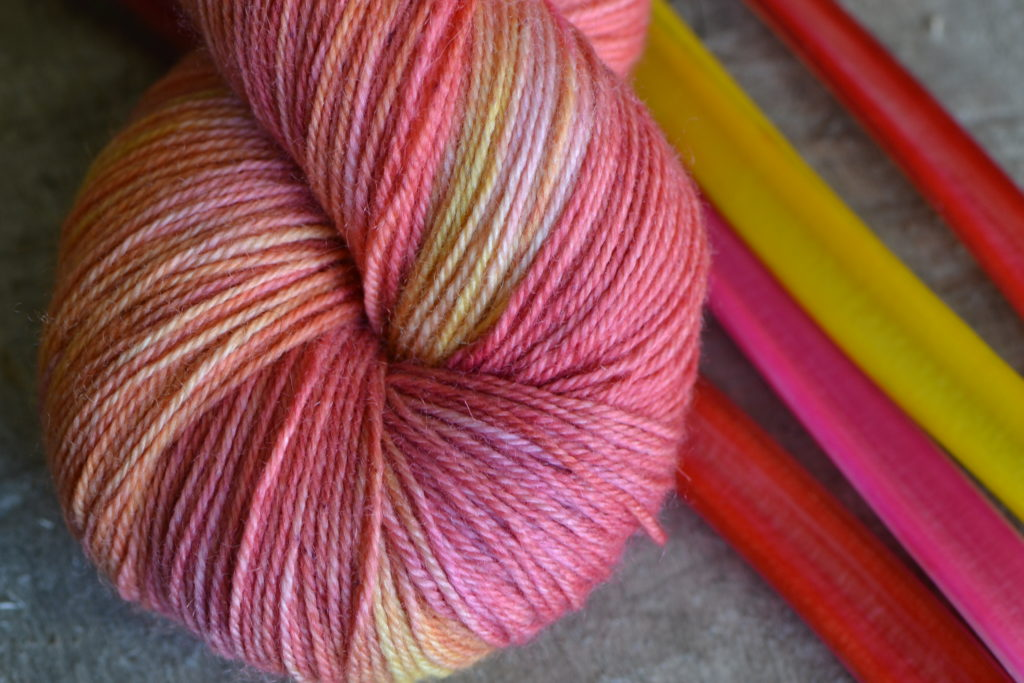 2016 - rainbow chard - BFL sock - 5